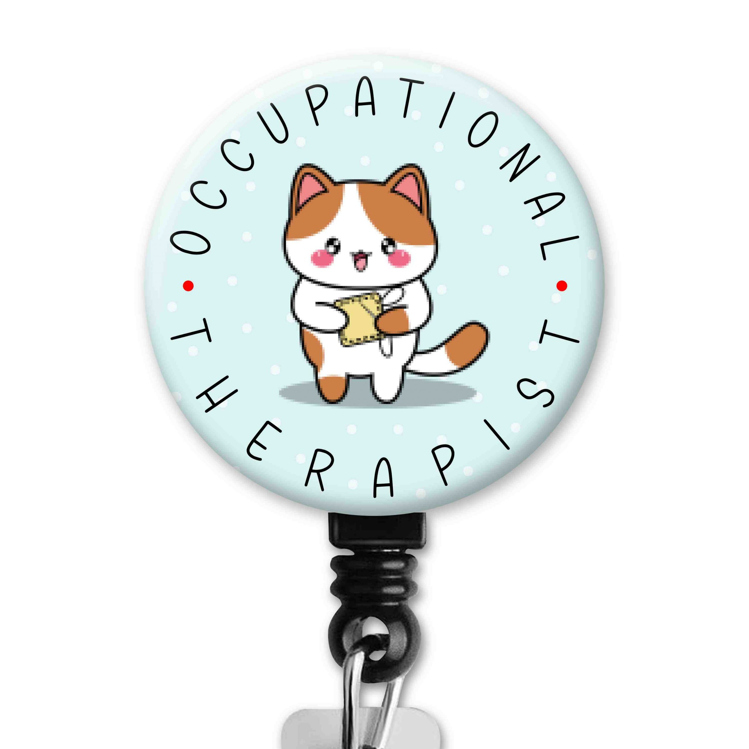 Cat 2 Functional Friends Collection Occupational Therapy Badge Reel