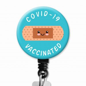 covid vaccinated badge reel