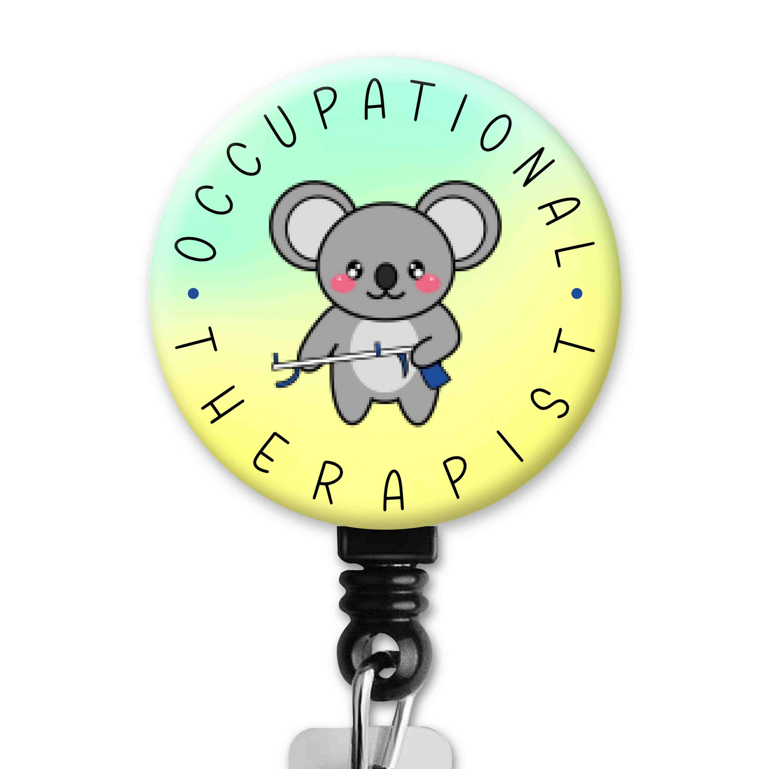 Koala 2 Functional Friends Collection Occupational Therapy Badge Reel