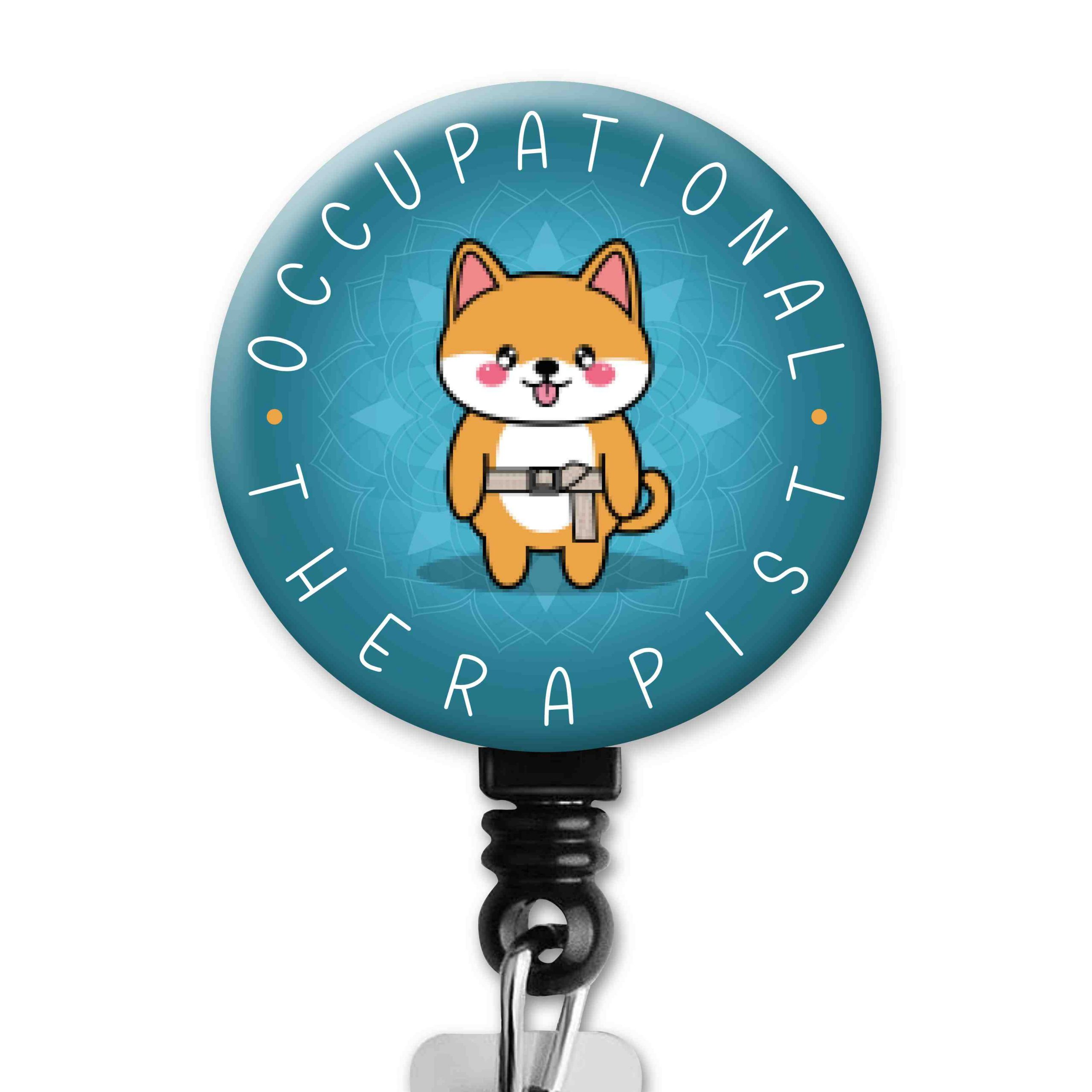 Shiba Inu 2 Functional Friends Collection Occupational Therapy Badge Reel