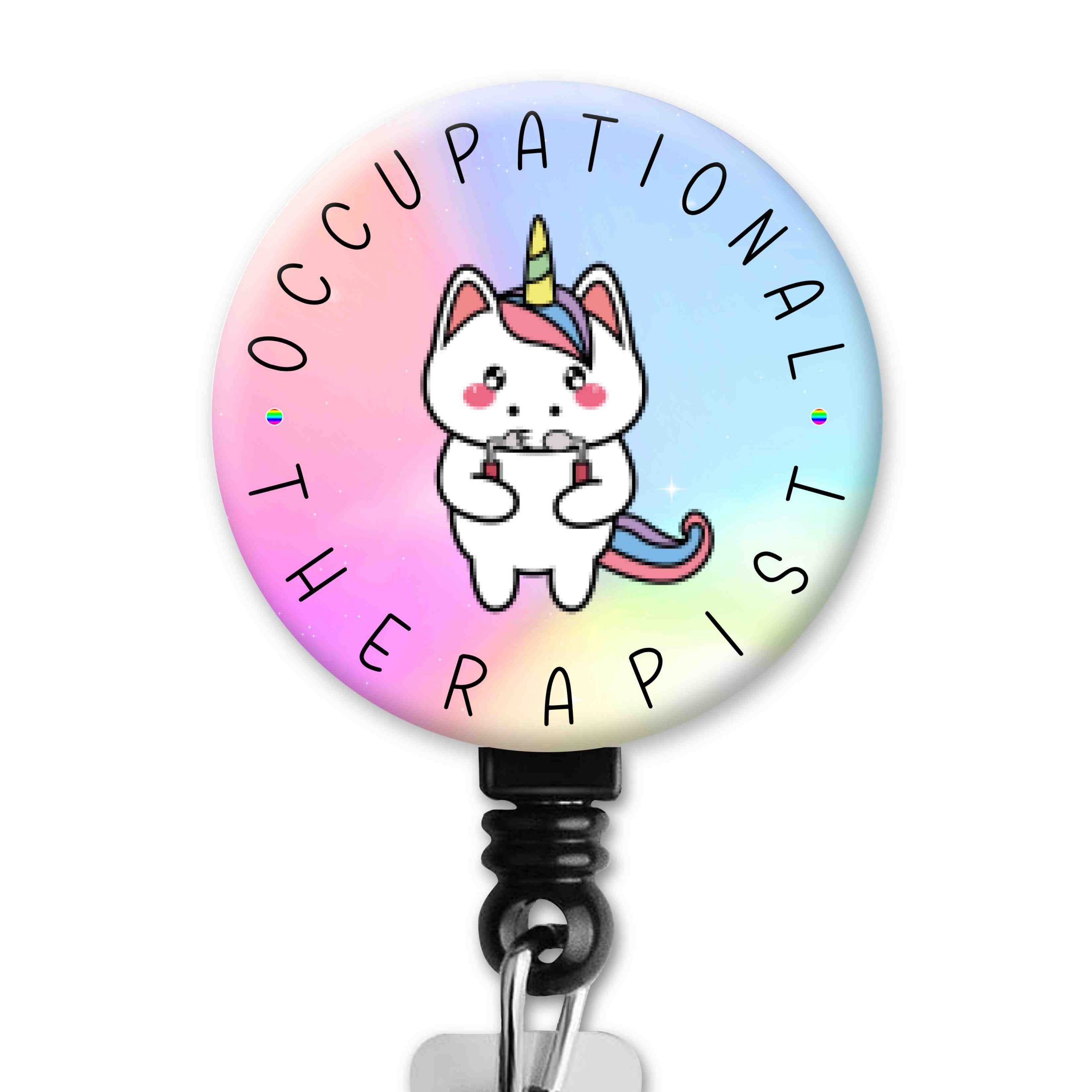Unicorn 2 Functional Friends Collection Occupational Therapy Badge Reel
