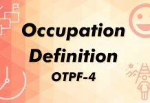 Occupation Definition OTPF-4