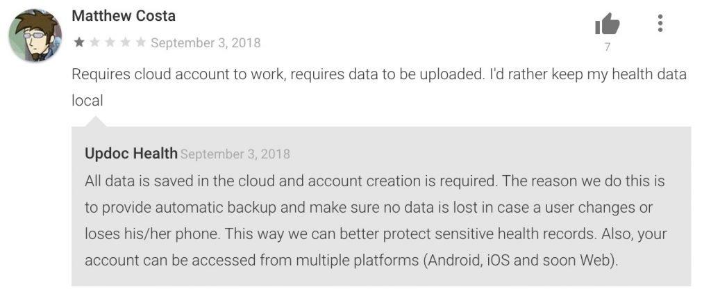 Updoc User Reviews2