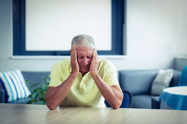 Older adult with financial burden